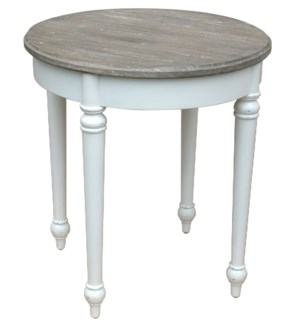 PROVENCE ROUND LAMP TABLE - WHT/RW+