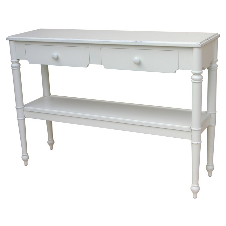 PROVENCE CONSOLE TABLE -  WHT