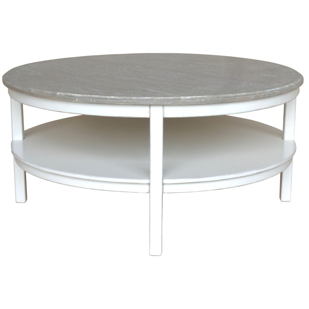 STUDIO ROUND COCKTAIL TABLE -  WHT/RW+