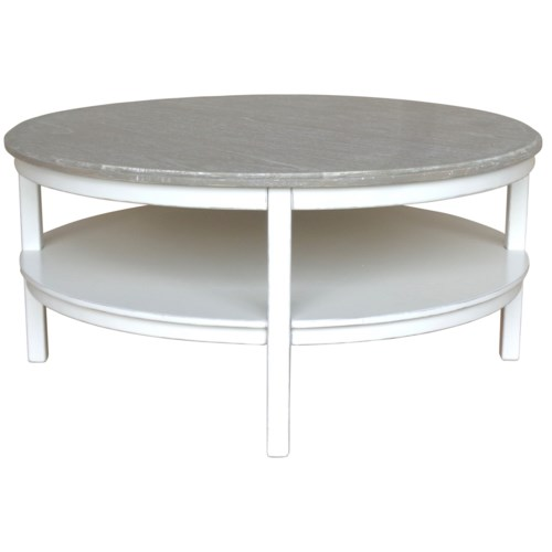 STUDIO ROUND COCKTAIL TABLE -  WHT/RW+