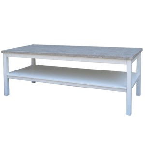 STUDIO COFFEE TABLE- WHT/RW+