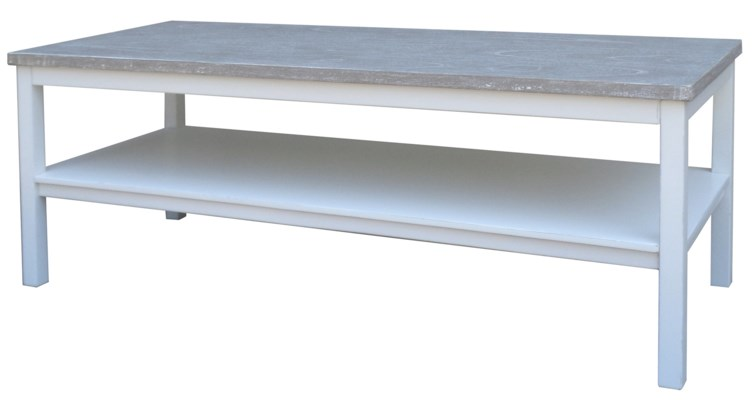 STUDIO COFFEE TABLE - WHITE/RIVERWASH