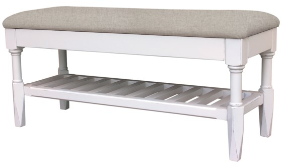 "EASTON QUEEN BENCH 58"" -WHT"