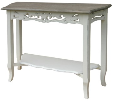 CARVED CONSOLE TBL - WHT/RW+