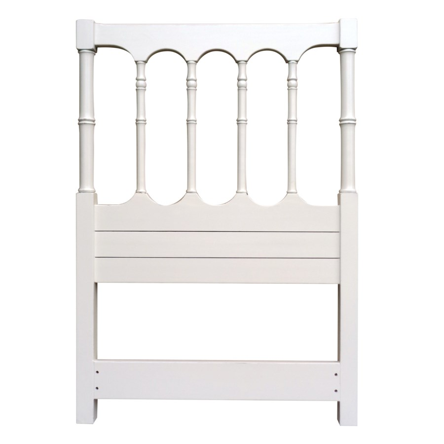 ISLAND SPINDLE TWIN HEADBOARD - WHT