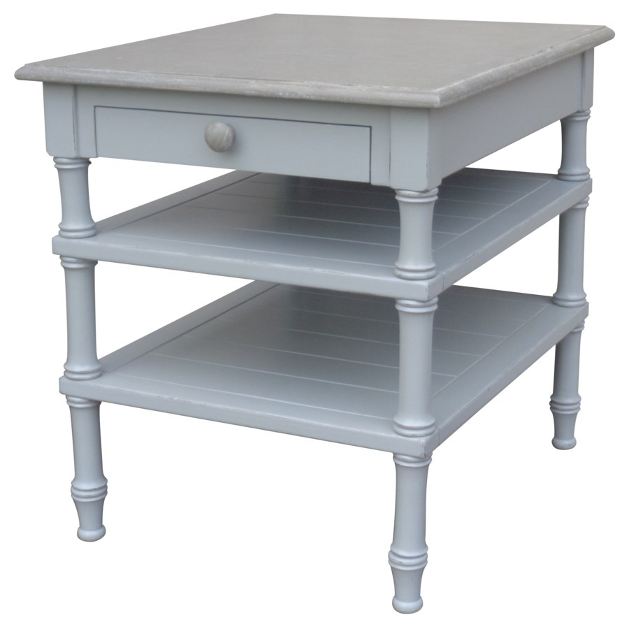 ISLAND LAMP TABLE - GREY/RW+