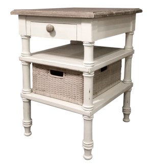 ISLAND SIDE TABLE - WHT/RW+