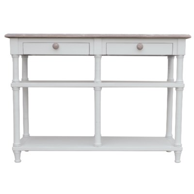 ISLAND HALL TABLE-WHT/RW+