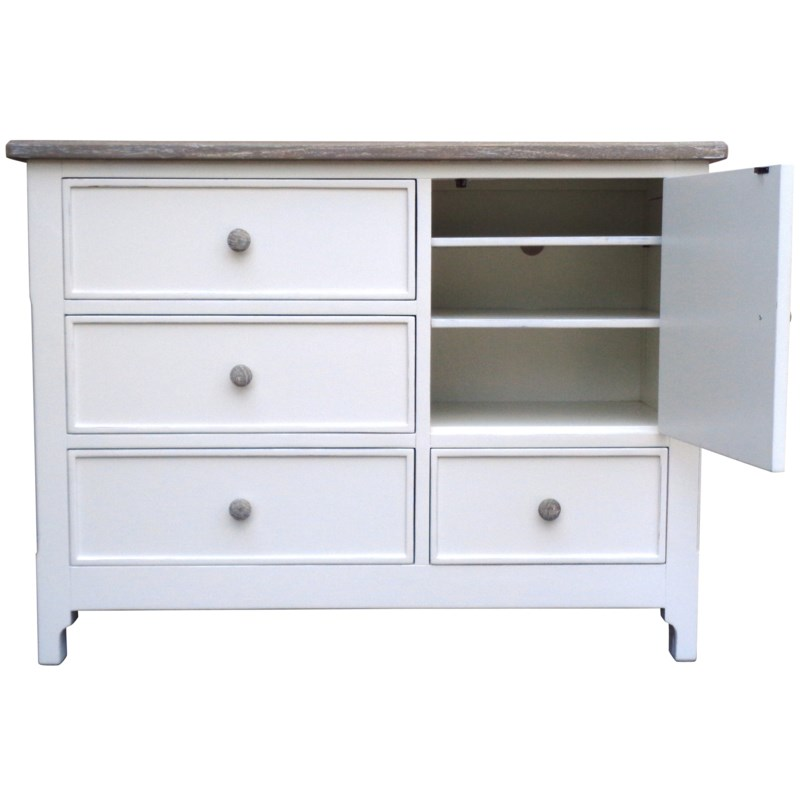 CHESAPEAKE SINGLE DRESSER - WHT/RW+