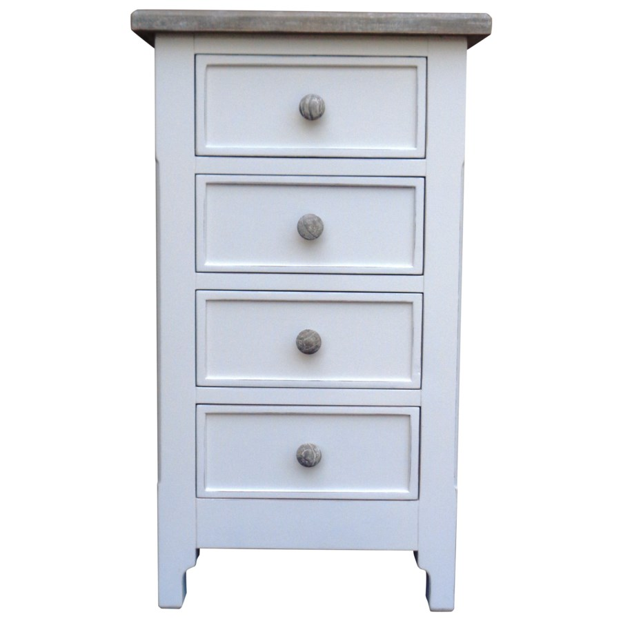 CHESAPEAKE CHEST OF FOUR - WHT/RW+
