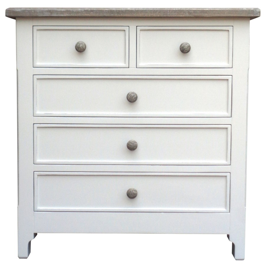 CHESAPEAKE BACHELOR CHEST - WHT/RW+