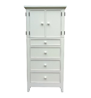 CHESAPEAKE TALL DOOR CHEST -  WHT