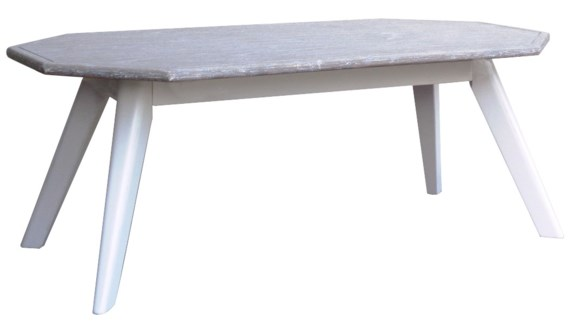 NANTUCKET COFFEE TABLE - WHITE/RIVERWASH