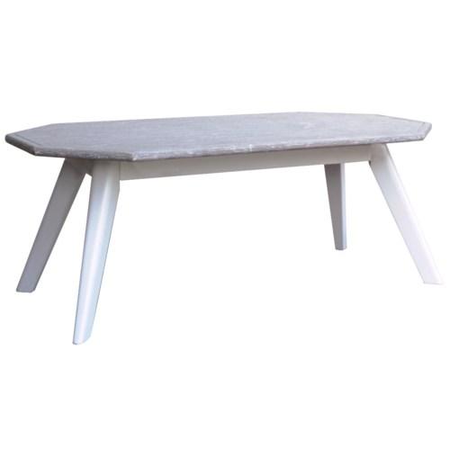 NANTUCKET COFFEE TABLE - WHT/RW+