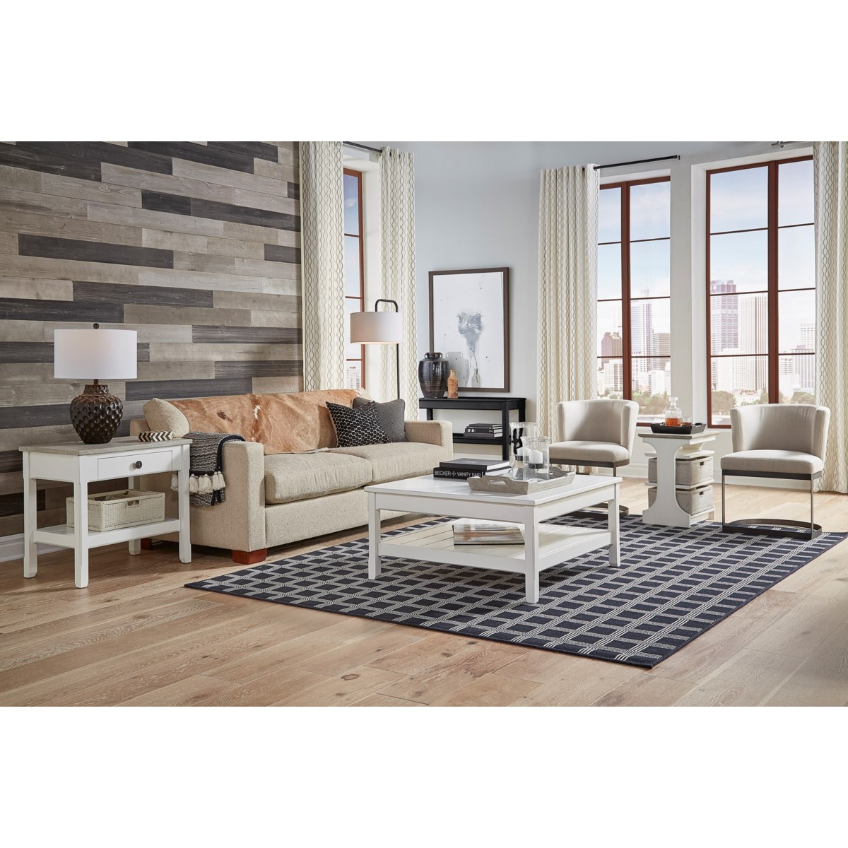 KENNEDY CHAIRSIDE TABLE - WH/RW+