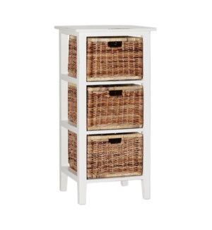 Vertical 3 Drawer Basket Storage