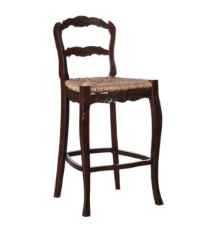 Jolie Bar Stool - Mendong w/ Carving, 26""