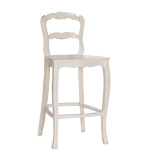Jolie Barstool - Wood Seat w/ Carving, 30""