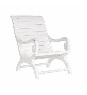 Teak Slatted Lazy Chair