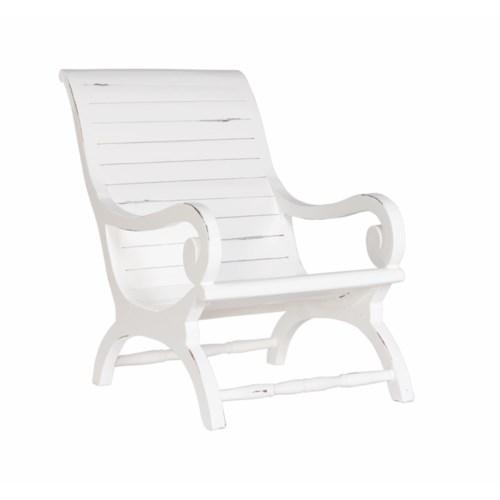 Teak Slatted Lazy Chair