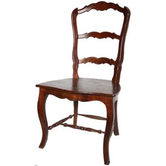 Jolie Dining Chair - Wood Seat w/ Carving