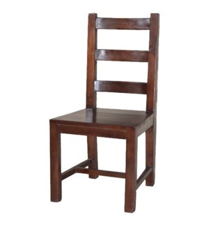 Country Slat Back Chair, Wood Seat