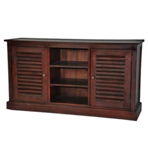 Louvered TV Stand