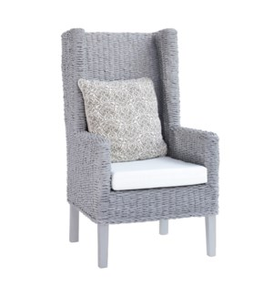 King Coastal Chair Abaca