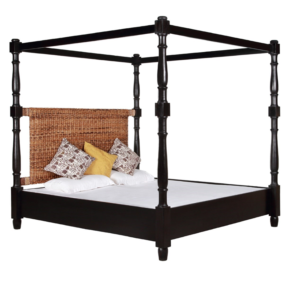 Abaca Triangle Poster Bed, King