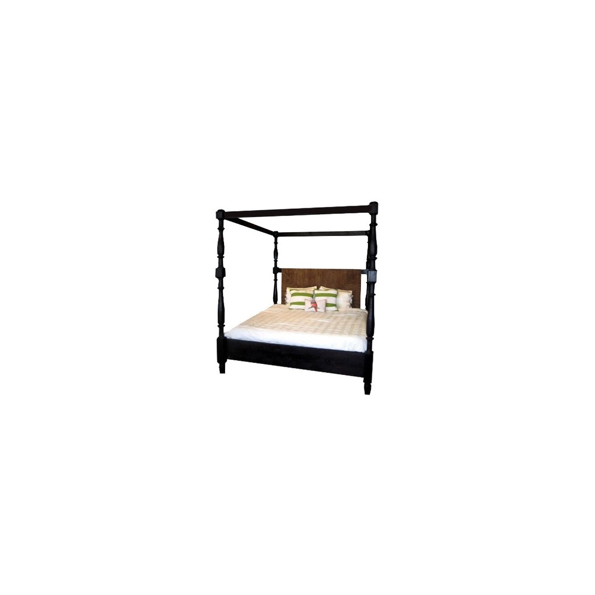 Abaca Triangle Poster Bed, Queen