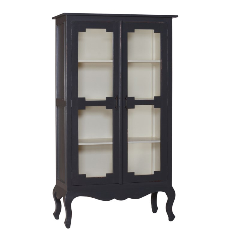 French Vintage Glass Cabinet