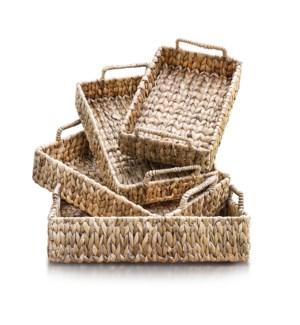 Waterhyacinth Tray, Set of 4