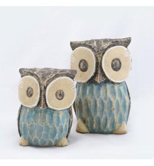 Big Eye Owl, Set of 2, Large