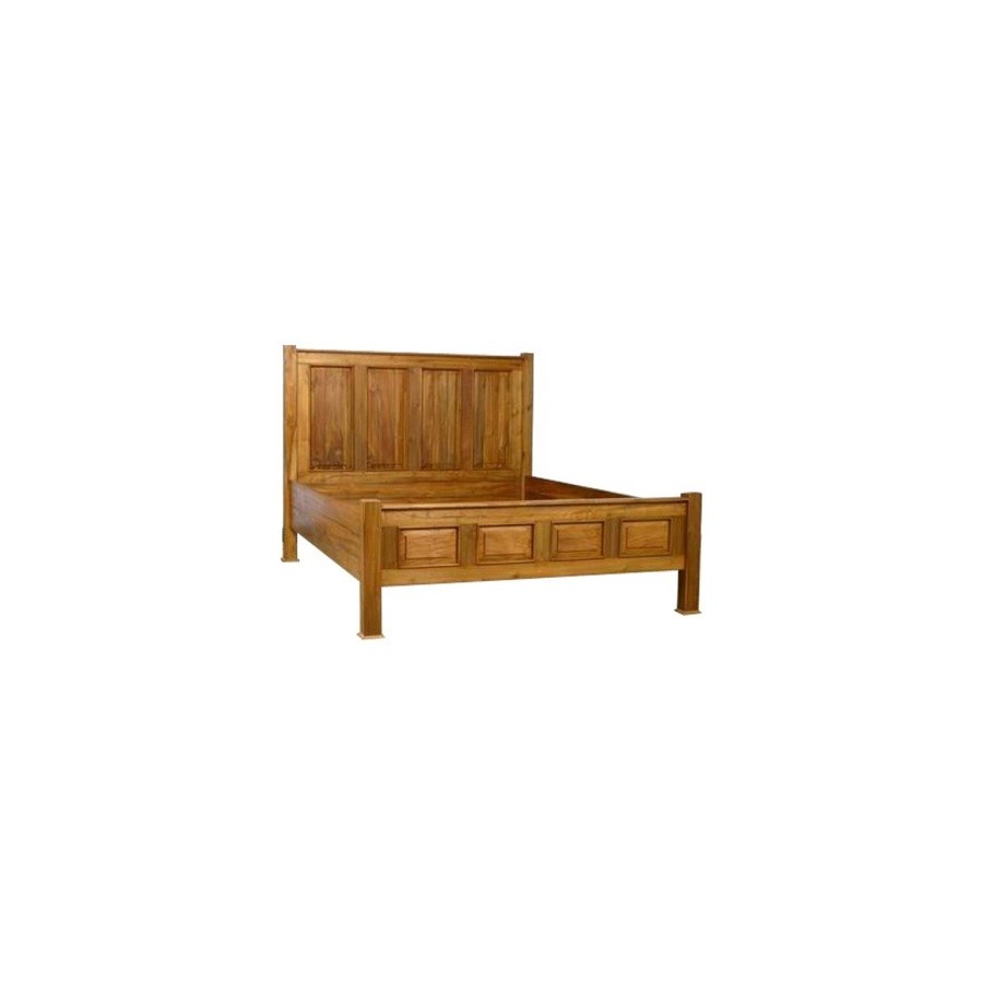 Panel Bed w/ Low Footboard, queen