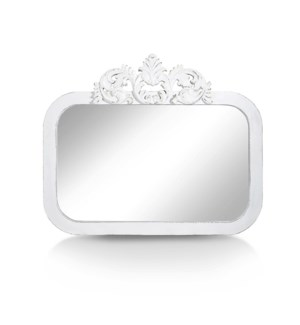 White Curved Mirror L