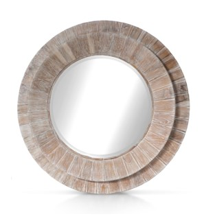 Megan Mirror - White Wash