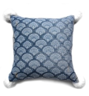 "Pillow, 18"" with PomPom"