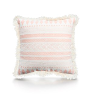 "Pillow, 20"" with Fringe - Stella, Coral"