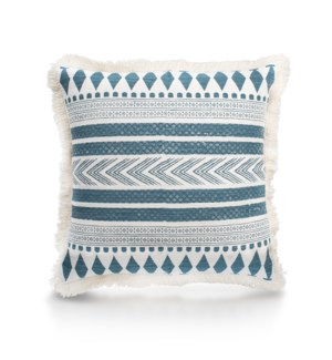 "Pillow, 20"" with Fringe - Stella, Turqoise"