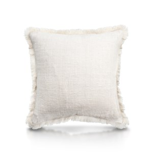 "Pillow, 20"" with Fringe - Solid (Natural)"