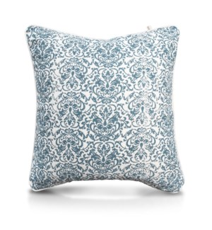 "Pillow, 24"" with Piping - Damask, TUR"