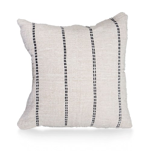 """Pillow, 20"""" Square with Line Handstitch"""
