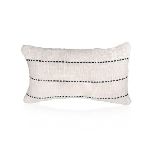 Kidney Pillow with Line Handstitch