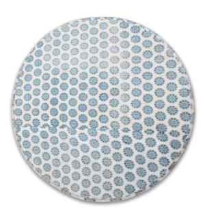 Handwoven Cotton Rug, Round