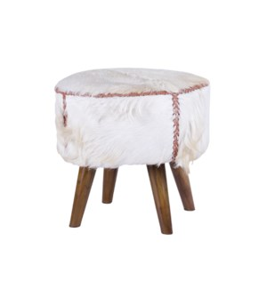 Cow Hide Round Side Table/Stool