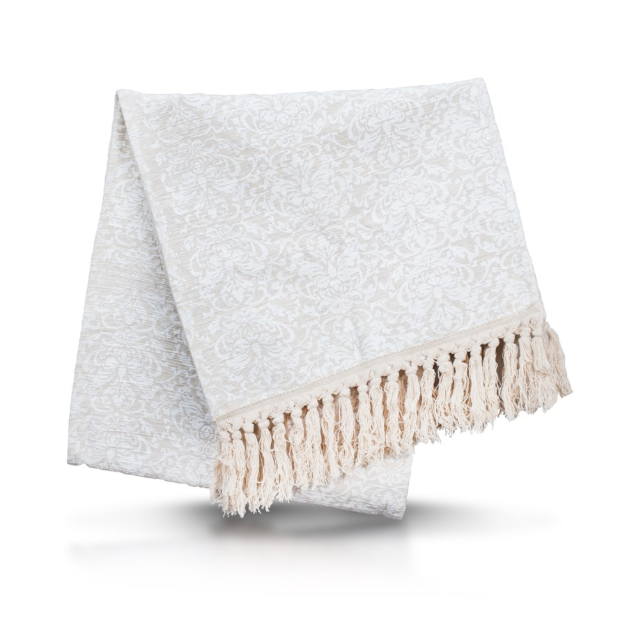 Table Runner with Fringe - Solid (Natural)