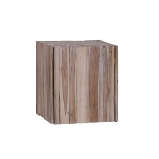 Teak Sliced Side Table