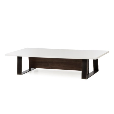 Jordan Coffee Table - White Lacquer Top