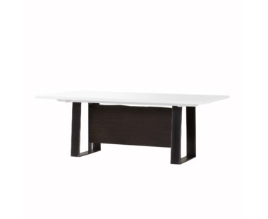 "Jordan Dining Table - 84""W / White Acrylic"