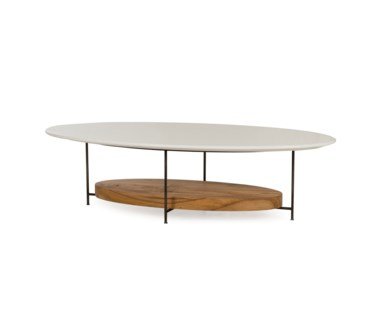 Olivia Coffee Table- White Lacquer